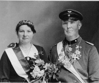 Major August Steinkamp mit seiner Frau Lina