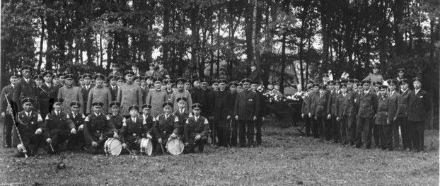 Die Schützengilde auf dem Stiftungsfest im Jahre 1930