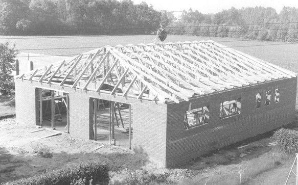 Bau der Schießhalle 1972
